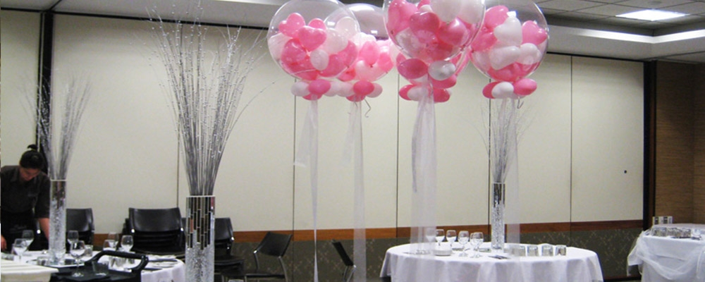 Helium balloons decoration auckland party hire for Helium balloon decoration