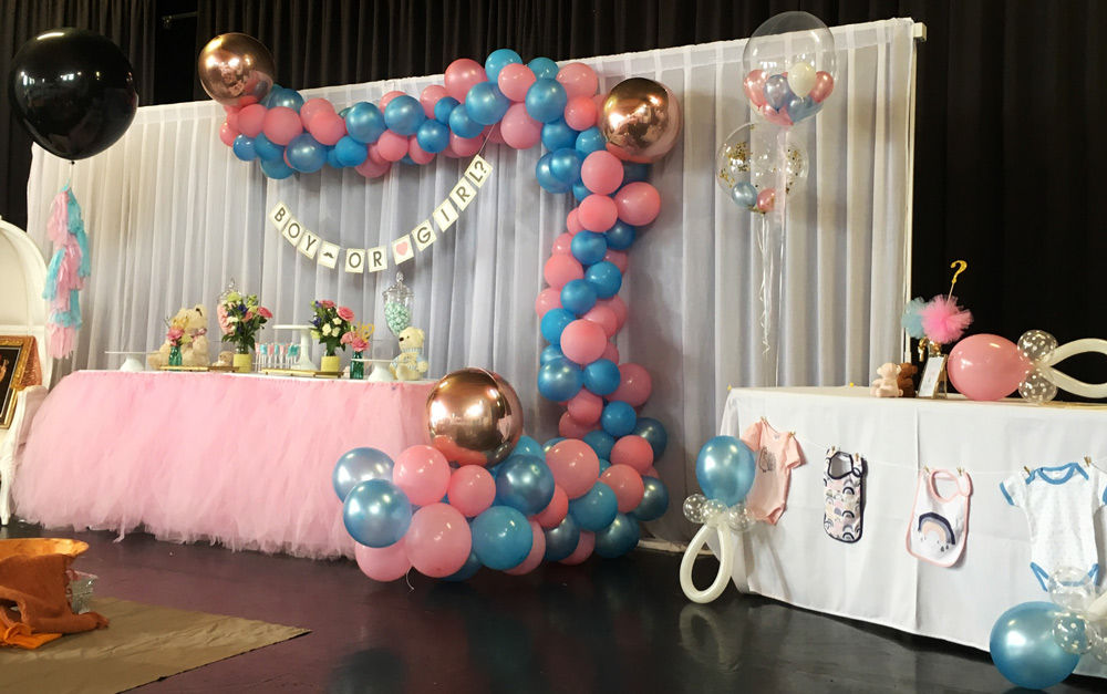 Balloon Garlands Gender Reveal Party Decorations