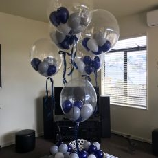 Blue Helium Balloon Decorations Champers Party Shop