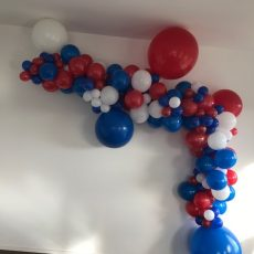 Colourful Balloon Arches Champers Party Shop