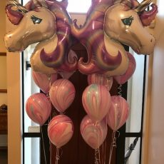 Helium Balloon Unicorn Decoration Champers Party Shop
