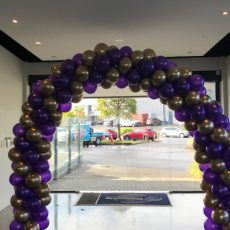 Puple And Gold Balloon Arches Champers Party Shop