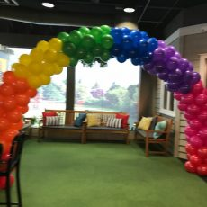 Rainbow Balloon Arches Champers Party Shop