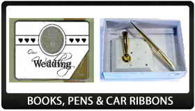 Wedding Books, Pens & Car Ribbons